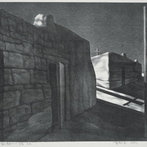 12 Su Xinping Silent Town No. 2 1991 lithograph 52×69cm 290x290 - Landscapes with Ritualistic Practices: Su Xinping Solo Exhibition Opening October 18 at Guangdong Museum of Art