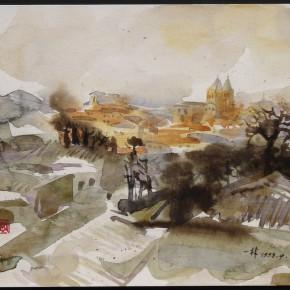 134 Ding Yilin, Overlooking Toledo, 1998