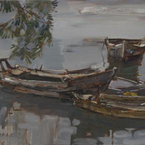 14 Ding Yilin, A Small Harbor of Yangma Island, 60 x 80 cm, 2013