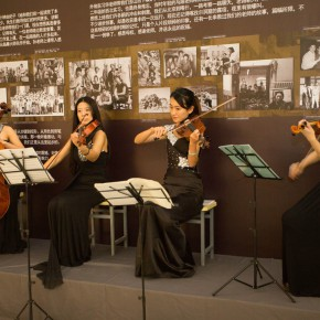 "17 Violinists played at the scene 290x290 - Reviewing the History While Looking into the Future: ""Life after Stepping out of Xiaowei"" Art Exhibition Unveiled at CAFA"