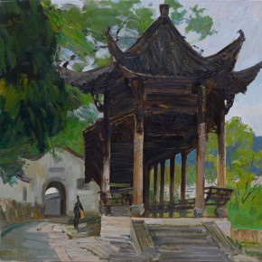 18 Ding Yilin, The Ancient Yulian Pavilion at She County, 80 x 80 cm, 2015