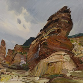 26 Ding Yilin, The Seaside Volcanic Rocks of the Nanya in Taiwan, 50 x 60 cm, 2014