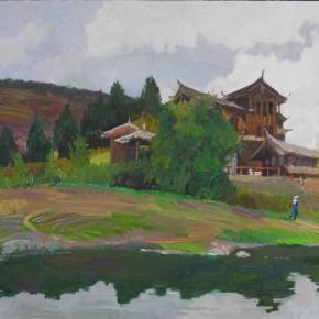 30 Ding Yilin, Scenery of Beam River, 60 x 80 cm, 2013