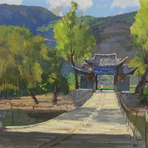 31 Ding Yilin, Iron Chain Bridge of Shigu Town, 80 x 100 cm, 2013