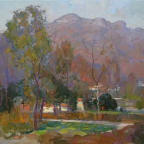 34 Ding Yilin, Autumn of Mountain Village, 118 x 118 cm, 2011