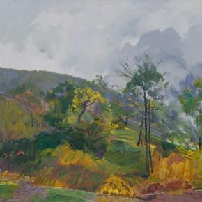 35 Ding Yilin, Autumn of Taihang Mountain, 80 x 100 cm, 2013