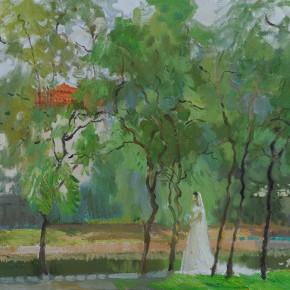 36 Ding Yilin, Badaguan in Qingdao, 50 x 60 cm, 2011