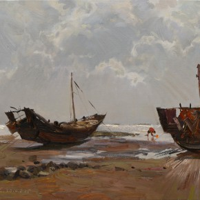 37 Ding Yilin Gathering Seafood on the Beach When the Tide is Ebbing 60 x 70 cm 2014  290x290 - Ding Yilin