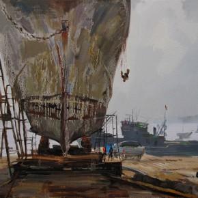 38 Ding Yilin, Waiting for Sailing, 60 x 80 cm, 2013