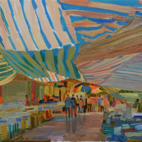 41 Ding Yilin, Fish Market of the Southern China, 54 x 72 cm, 2008