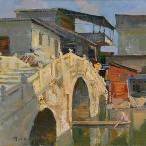46 Ding Yilin, The Old Bridge No.1, 60 x 60 cm, 2006