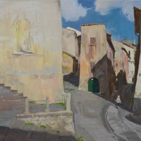 47 Ding Yilin, An Old Street in Tuscania, 60 x 80 cm, 2014