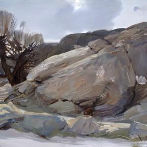 51 Ding Yilin, A Breach of Helan Mountain, 90 x 120 cm, 2011