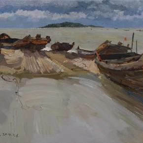 53 Ding Yilin, The Beach, 40 x 50 cm, 2014