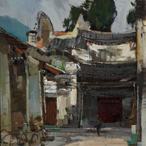 56 Ding Yilin, The Ancient Stage, 70 x 54 cm, 2008