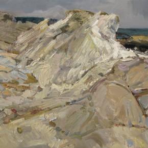 63 Ding Yilin, The White Stone Reef, 60 x 100 cm, 2010