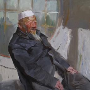 68 Ding Yilin, An Old Hui Man in the Sunshine, 110 x 100 cm, 2011