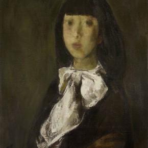 70  Ding Yilin, Portrait of a Girl, 70 x 55 cm, 1988