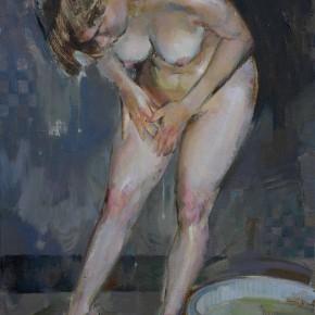 74 Ding Yilin, Having a Bath, 80 x 60 cm, 2006