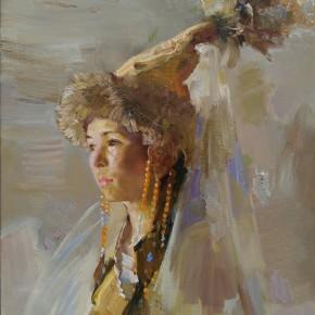 86 Ding Yilin, A Kazakh Girl, 80 x 60 cm, 2015