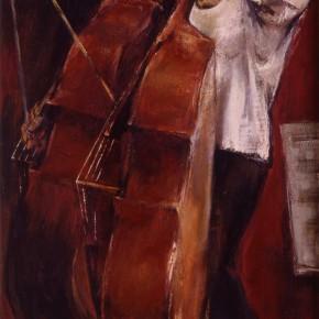 89 Ding Yilin, The Violoncellist, 110 x 190 cm, 1987