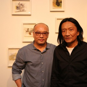 """9 Zhang Xiaogang and Su Xinping at opening of Landscapes with Ritualistic Practices Su Xinping Solo Exhibition 290x290 - Dialogue with Time and Space: Su Xinping's """"Landscapes with Ritualistic Practices"""" Unveiled at Guangdong Museum of Art"""