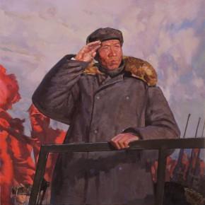 90 Ding Yilin, The Dawn of the New China – Liu Shaoqi Had a Military Parade at Nanyuan Airport, 110 x 80 cm, 2013