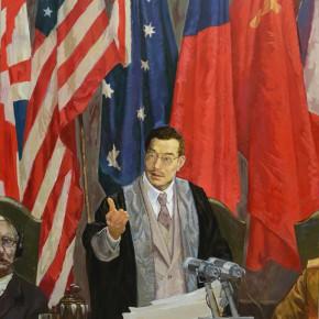 99 Ding Yilin The Tokyo Trial – Chinese Judge Mei Ruao 180 x 135 cm 2014 290x290 - Ding Yilin
