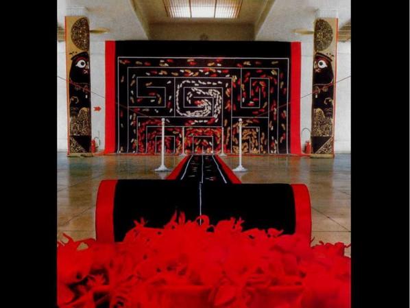 Lv Shengzhong, Chichu, 121x546x156 inches, Paper-cut, installation, 1988