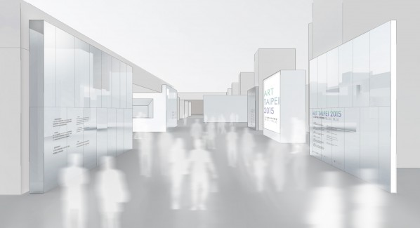 Rendering of the entrance of ART TAIPEI 2015