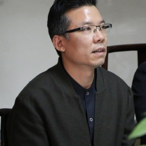 "01 Kong Fantao Deputy Director of the Department of the Professional Teaching of the school Deputy Head of the activity answered media's question 290x290 - ""The High School Affiliated to CAFA the First Green Apple Sketches, Creation and Chinese Calligraphy Award"" is Announced"