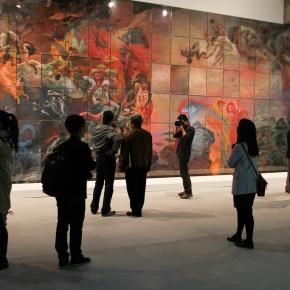 """03 Xia Xiaowan Shan Hai Jing Legend of Mountains and Seas – Xing Tian Men pastel 225 x 105 cm 2015 290x290 - Revolutionary Evolution in Rotary Way: Xia Xiaowan's Solo Exhibition """"Rotation"""" Debuted at Beijing Minsheng Art Museum"""