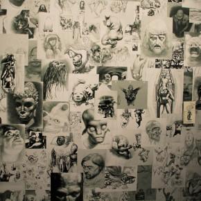 """04 Xia Xiaowan Lying Guanyin pastel 110 x 448 cm 2015 290x290 - Revolutionary Evolution in Rotary Way: Xia Xiaowan's Solo Exhibition """"Rotation"""" Debuted at Beijing Minsheng Art Museum"""