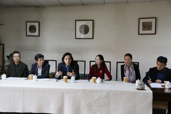 09 Press Conference of The High School Affiliated to CAFA the First Green Apple Sketches, Creation and Chinese Calligraphy Award on November 3