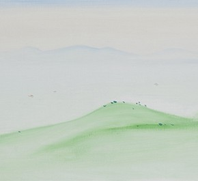 13 Wu Yi, The 15 Sceneries of West Lake Where the Clouds Dwell, oil on canvas, 30 x 100 cm, 2015