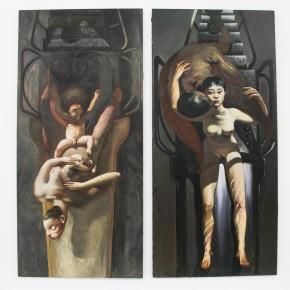 "16 Xia Xiaowan sketch of the oil painting ""Water·Body"" black ballpoint pen 21.5 x 28 cm 290x290 - Revolutionary Evolution in Rotary Way: Xia Xiaowan's Solo Exhibition ""Rotation"" Debuted at Beijing Minsheng Art Museum"
