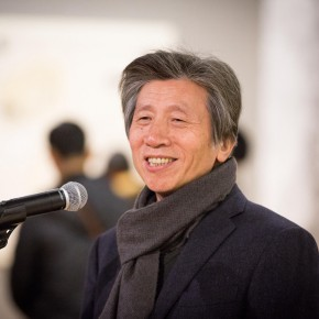 17 President of CAFA, the curator of the exhibition Fan Di'an addressed the opening ceremony