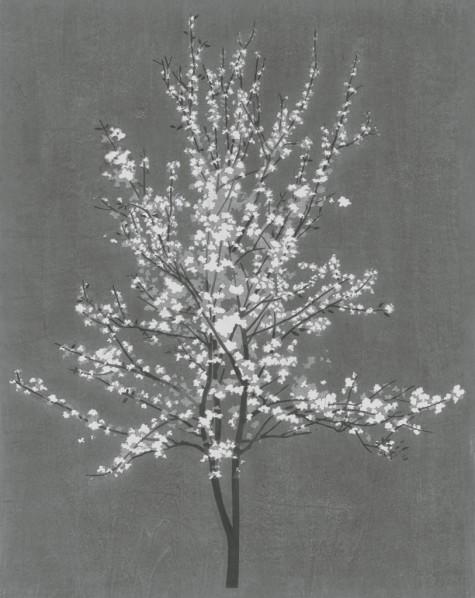 Chen Qi, Seeing Pear Flowers Again, 2014; waterblock print, 100x80cm