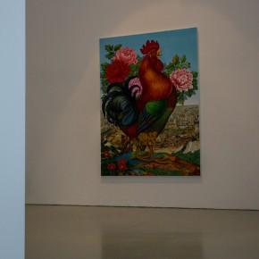 19 Lv Shengzhong, Big Cock, 2015; Oil painting, 360cm x500cm