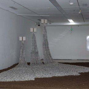 21 Lv Shengzhong Empty Book Unabridged Dictionary 2013 2015 papercut installation 1200cmx100cm x400cm 290x290 - Starting Steadily from the Last Century: Lv Shengzhong Solo Exhibition Presented at Today Art Museum