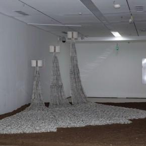 21 Lv Shengzhong, Empty Book Unabridged Dictionary, 2013-2015; papercut installation, 1200cmx100cm x400cm