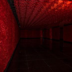 22 Lv Shengzhong, Human Wall, 2015; Papercut installation, 1350cmx300cm x500cm