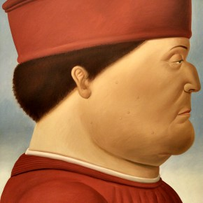 Fernando Botero, After Piero Della Francesca(DIPTYCH), 1998; Oil on canvas, 204x177cm
