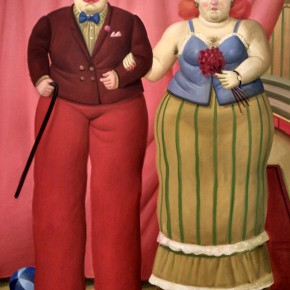 Fernando Botero, Clowns on Stilts, 2007; Oil on canvas, 186x119cm