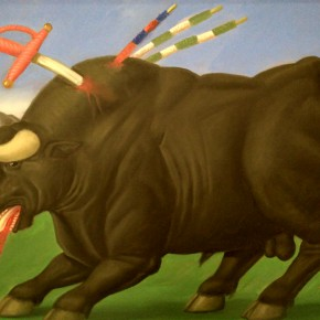 Fernando Botero, Dying Bull, 1985; Oil on canvas, 110x160cm