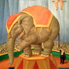 Fernando Botero, Elephant, 2007; Oil on canvas, 112x84cm
