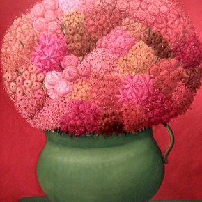 Fernando Botero, Flowers in Red (TRIPTYCH), 2006; Oil on canvas, 199x161cm