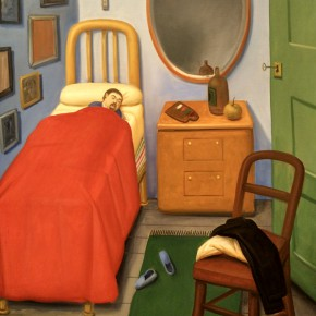 Fernando Botero, My Room in Medellin, After Van Gogh, 2011; Oil on canvas, 143x98cm