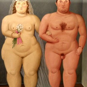 Fernando Botero, Nudist Marriage, 2010; Oil on canvas, 200x146cm