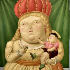 Fernando Botero, Our Lady of Colombia, 1992; Oil on canvas, 230x192cm